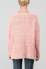 Popcorn Knit Tunic Sweater