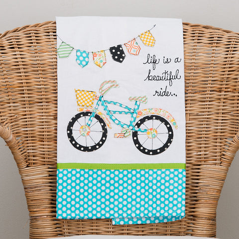 Beautiful Ride Bike Tea Towel