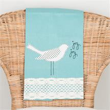 Joy  Bird Blue Tea Towel
