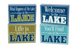 Lake Box Sign  5 x 7