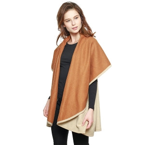 Two Tone Double Sided Cape/ Shawl/ Vest