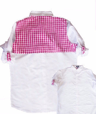 Cover-Up White/Pink Gingham