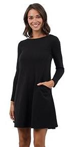 Party Perfect Pocket Dress Black
