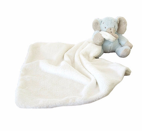 Blue Elephant Plush Minky
