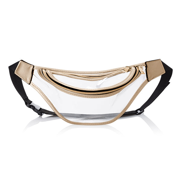 Gold Clear Fanny Pack