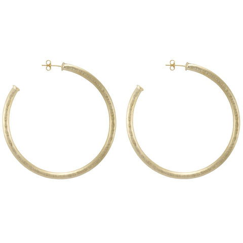 Hammered Big Round Hoops