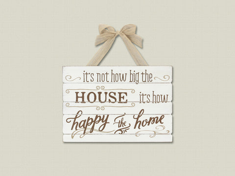 "Wood "" Happy Home "" Wall Sign"