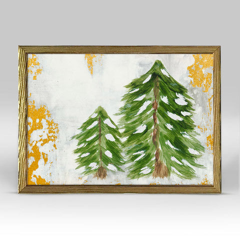 Forest Pine Pair Embellished Framed Canvas