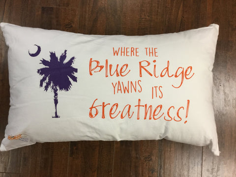 Clemson Pillow (purple & orange)