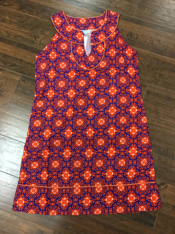 Copy of Tillby Dress Purple/Orange Cayman