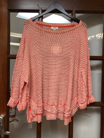 High Low Waffle Knit Top (two Colors)