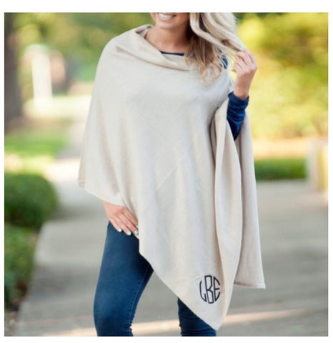 Creme Chelsea Poncho (taupe)