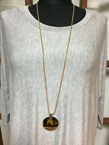 Paris Dark Tortoise Necklace