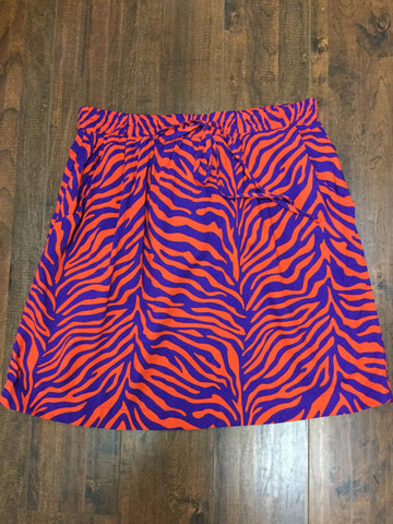 Marley Skirt in Orange/Purple Wildlife