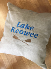 Personalized Lake Pillow