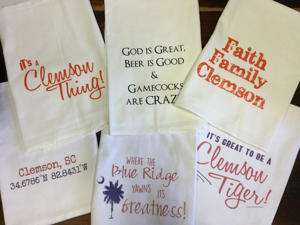Clemson Flour Sack  Towel (assorted)
