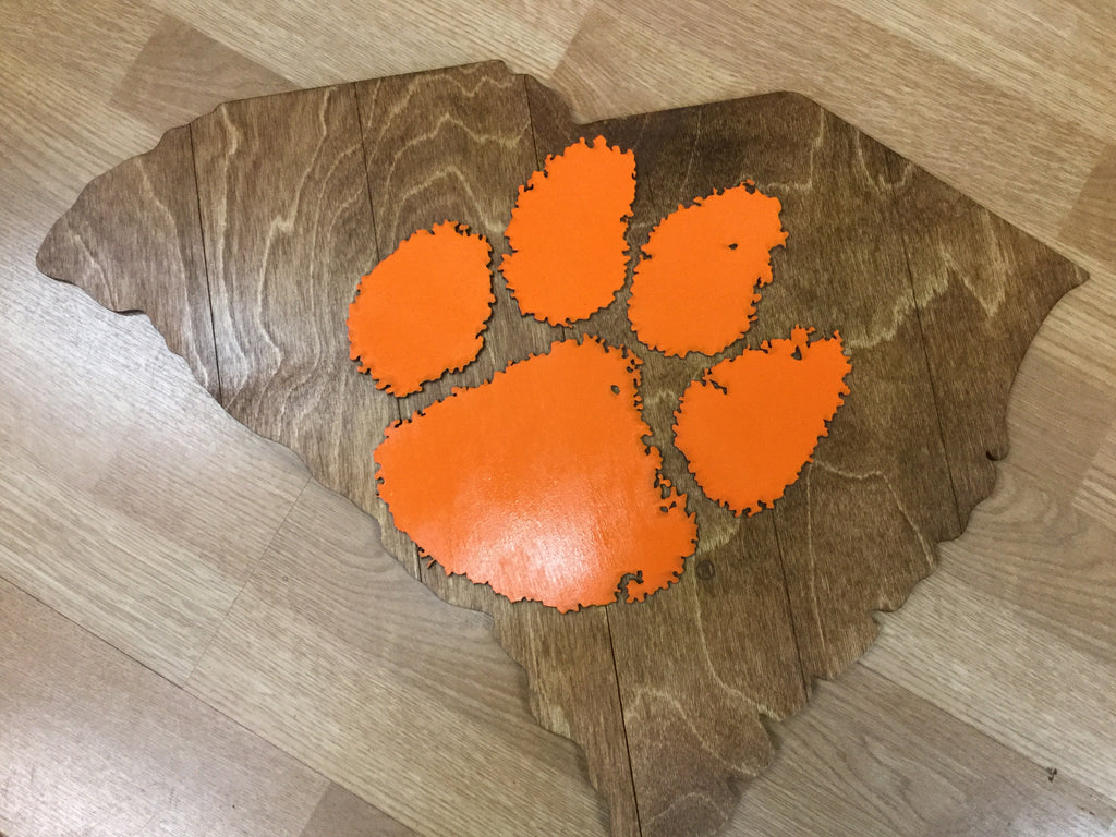 Wooden SC Wall Plaque with Paw  24 x 18