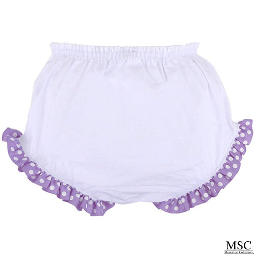 Purple Dot Diaper Cover