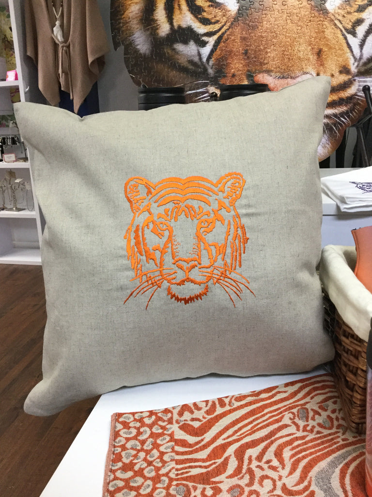 Tiger Head Pillow (Tiger Santa too)