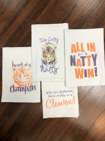 Clemson / South Carolina Flour Sack  Towel (assorted)