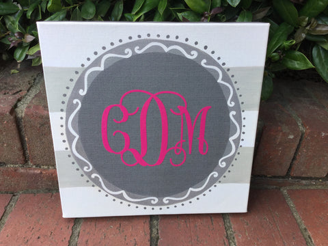 Circle Monogrammed Canvas