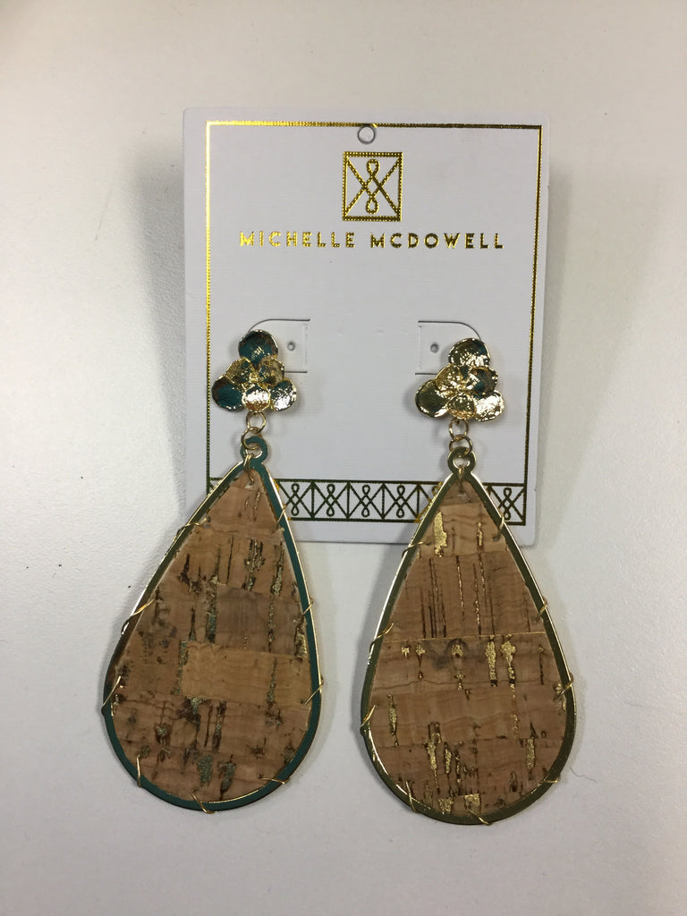 Miami Natural Cork Earrings