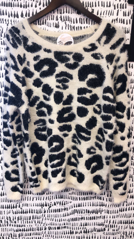 Black & White Leopard Sweater
