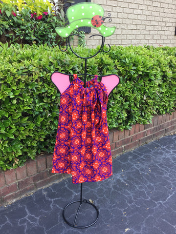 Lilla Dress in Purple/Orange Cayman