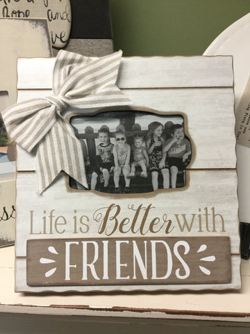 "Wood ""Friends"" Photo Frame"