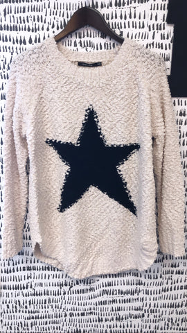 Ivory Star Sweater Top