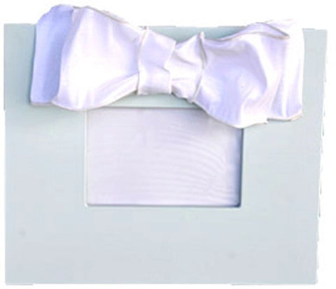 Light Blue Frame with White Metallic Bow