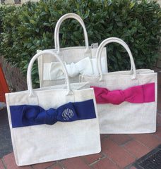Linen Bow Tote (3 Colors)