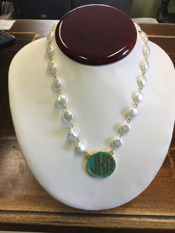 Fornash Pearl Disc Necklace