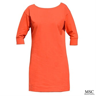 Orange 3/4 Sleeve Dress