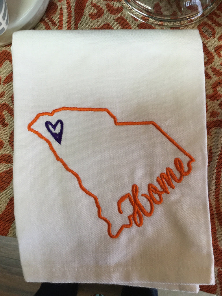 "Clemson ""Home""  Hand Towel"