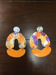 Hand Crafted Clemson Earrings