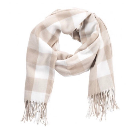 Natural Buffalo Check Adaline Scarf