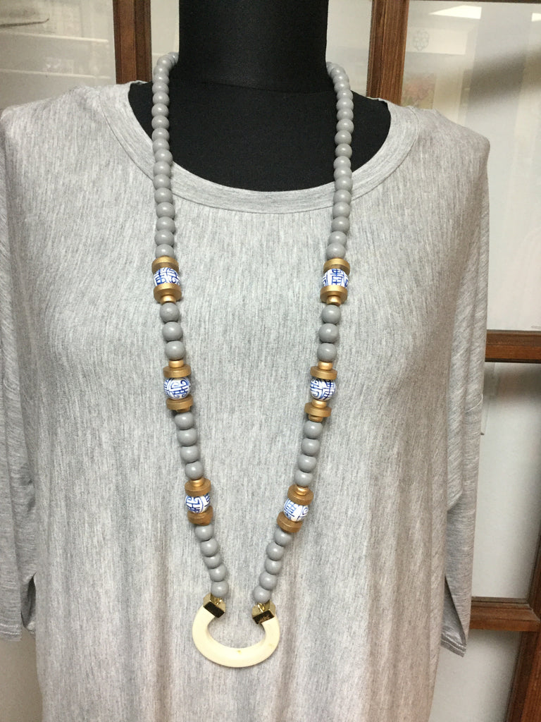 Carribean Gray  Necklace