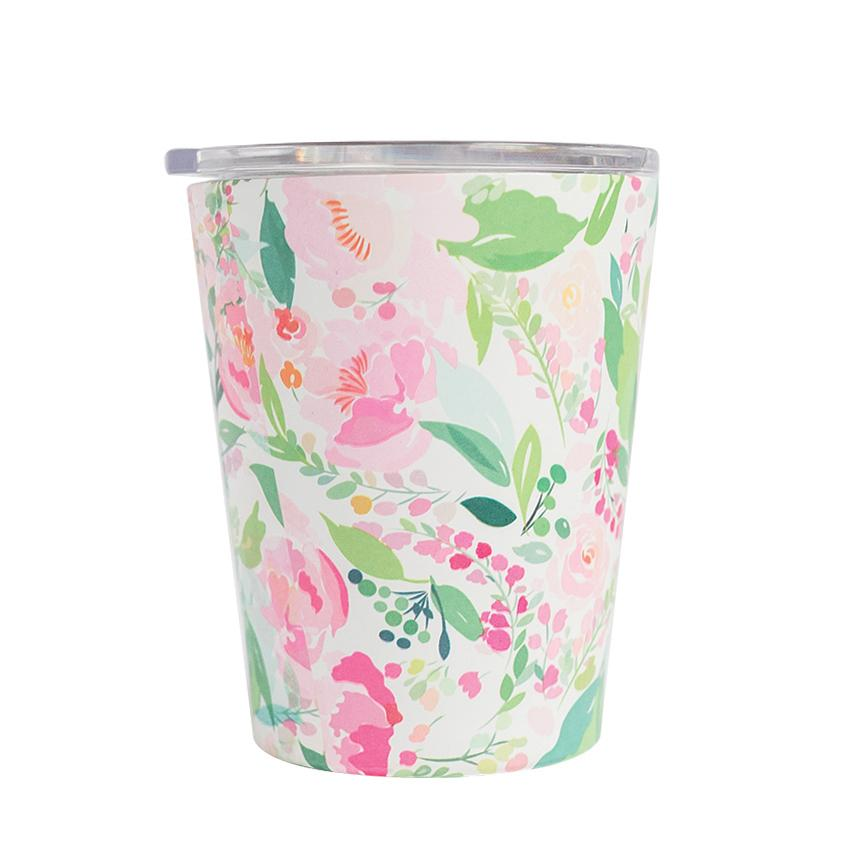 Stainless Coffee Tumbler Floral Mary Square