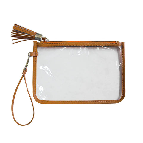 Clear Zipper Pouch Orange