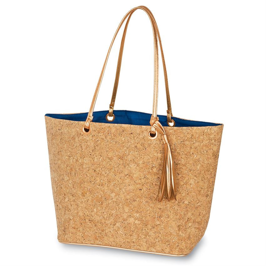 Cork Tote (Navy or Hot Pink)