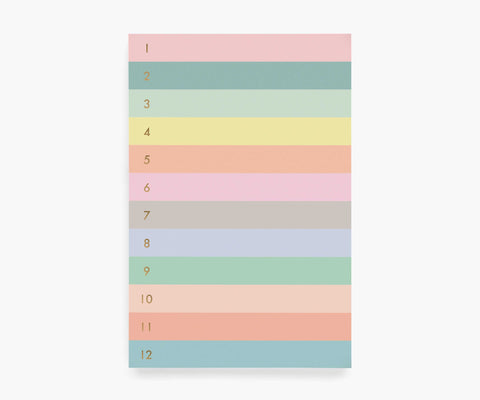 Numbered Color Block Memo Notepad