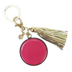 Gold Tassel Keychain with Monogramable Disc