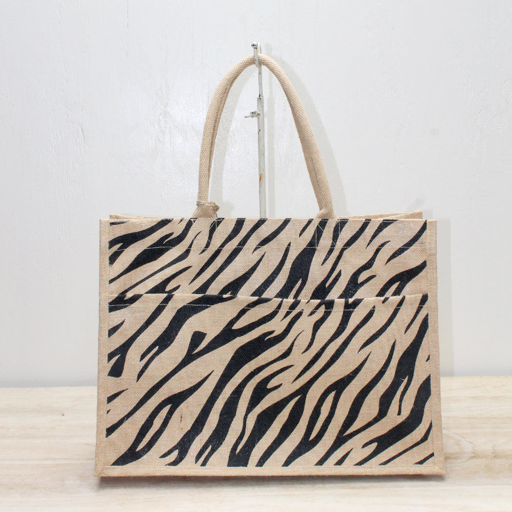 Tiger Stripe Pocket tote