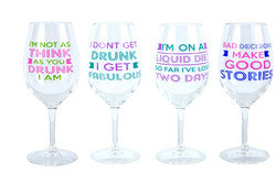 Drinking Sayings Acrylic Wine