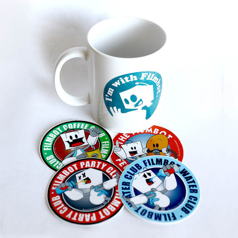 Filmbot Grip | Club Stickers w/ Mug