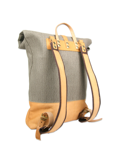 Handcrafted rolltop backpack