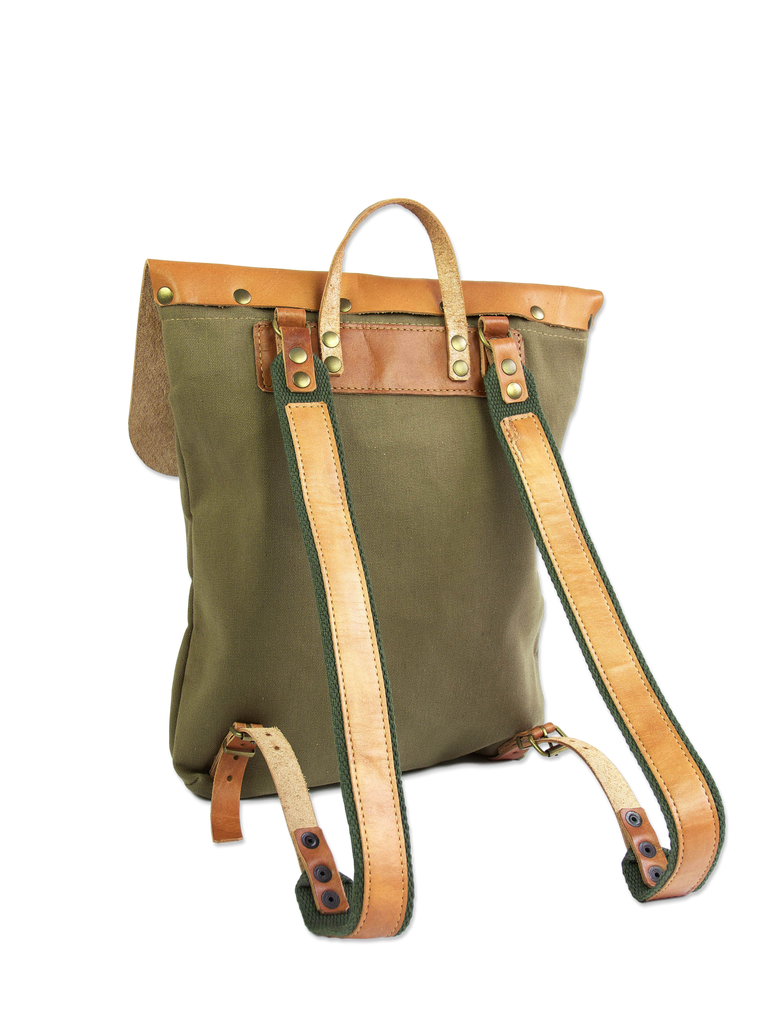 Simple handmade backpack sustainable