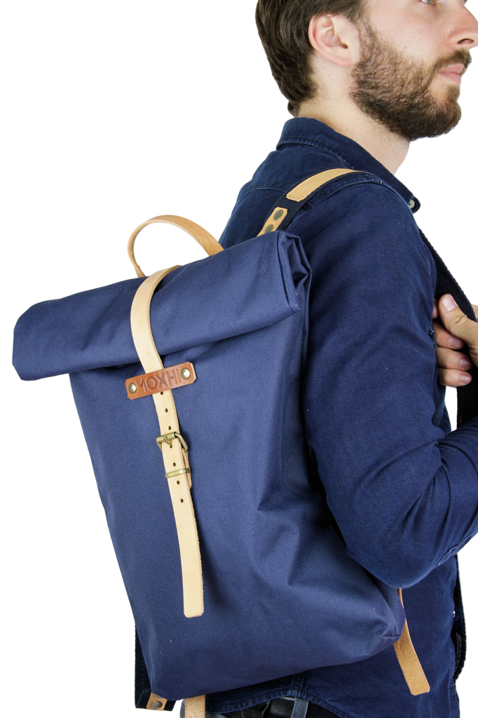 Waterproof backpack blue - men