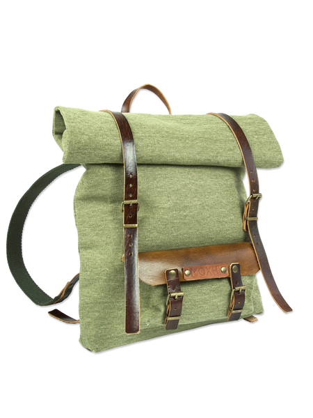 Organic handmade rolltop backpack